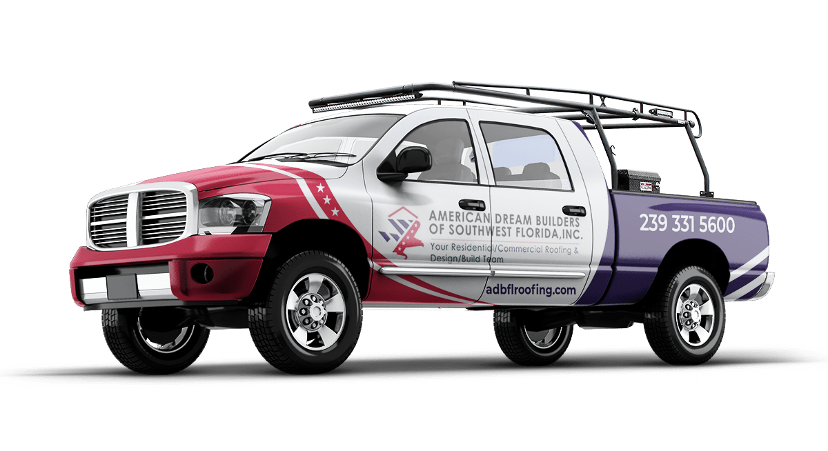 Roofing pickup truck